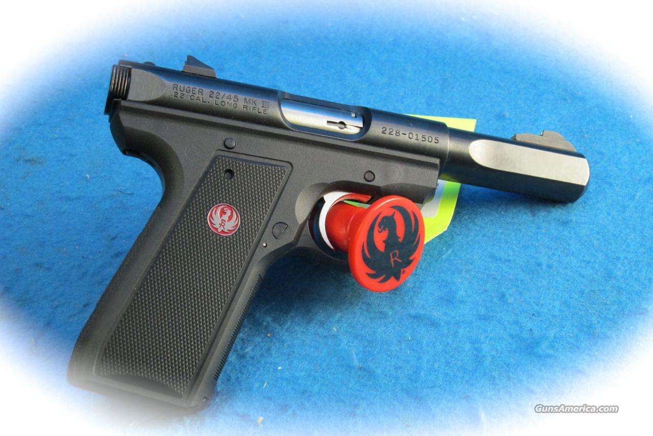 Ruger MKIII 22/45 Slab Side .22LR PIstol **Used**  Guns > Pistols > Ruger Semi-Auto Pistols > Mark I & II Family