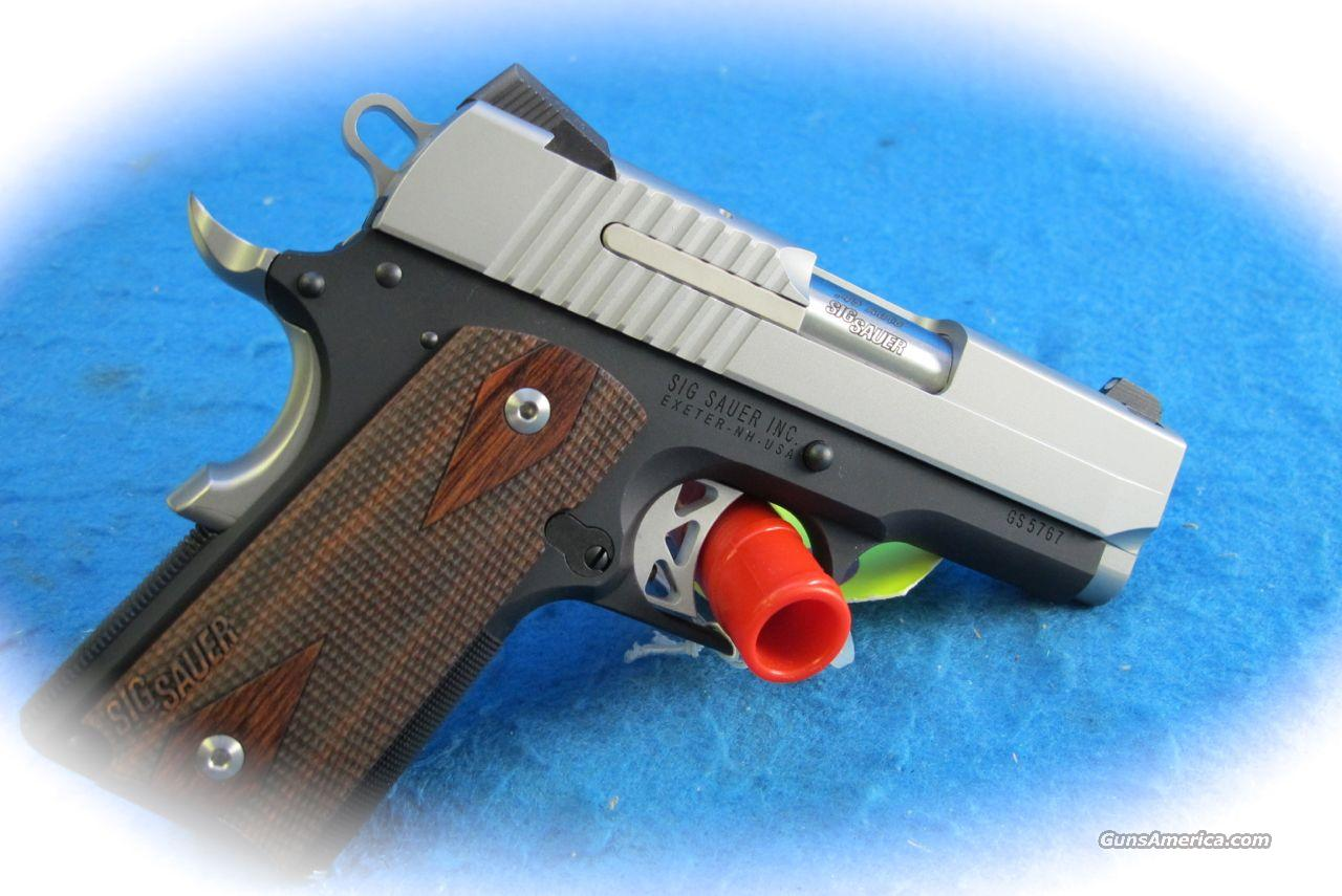 Sig Sauer 1911 Ultra Compact  Two-Tone .45 ACP Pistol **New**  Guns > Pistols > Sig - Sauer/Sigarms Pistols > 1911