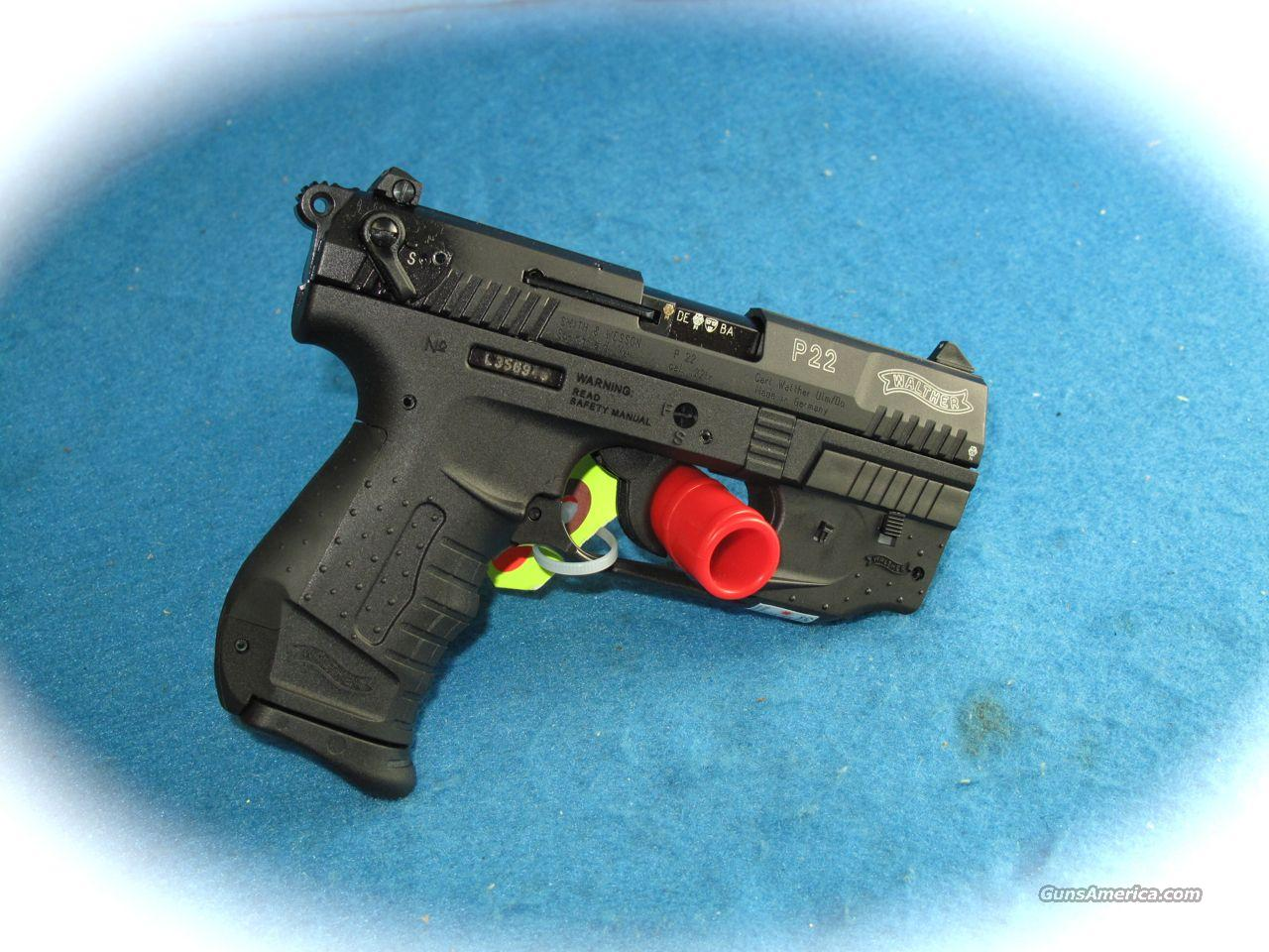 Walther P22 Pistol w/ Laser Package .22LR **NEW**  Guns > Pistols > Walther Pistols > Post WWII > Target Pistols