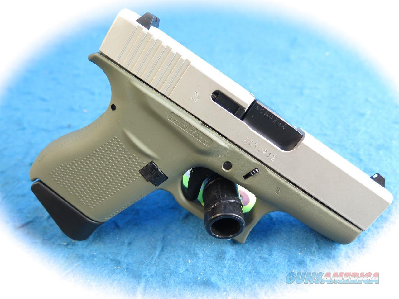 Glock Model 43 9mm Semi Auto Pistol Forest Green Finish **New**  Guns > Pistols > Glock Pistols > 43