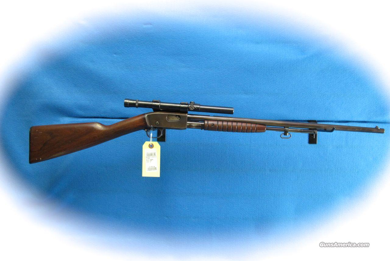 Remington Model 12 Pump .22 Cal. Rifle w/Vintage Scope **Used**  Guns > Rifles > Remington Rifles - Modern > .22 Rimfire Models