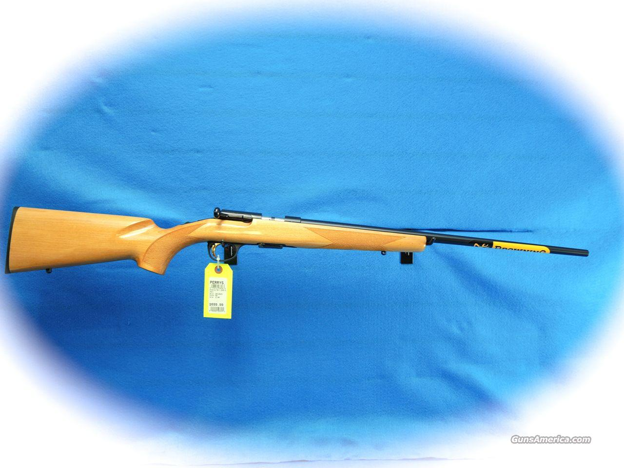 Browning T-Bolt Sporter Maple .22 Magnum Rifle **New**  Guns > Rifles > Browning Rifles > Bolt Action > Hunting > Blue