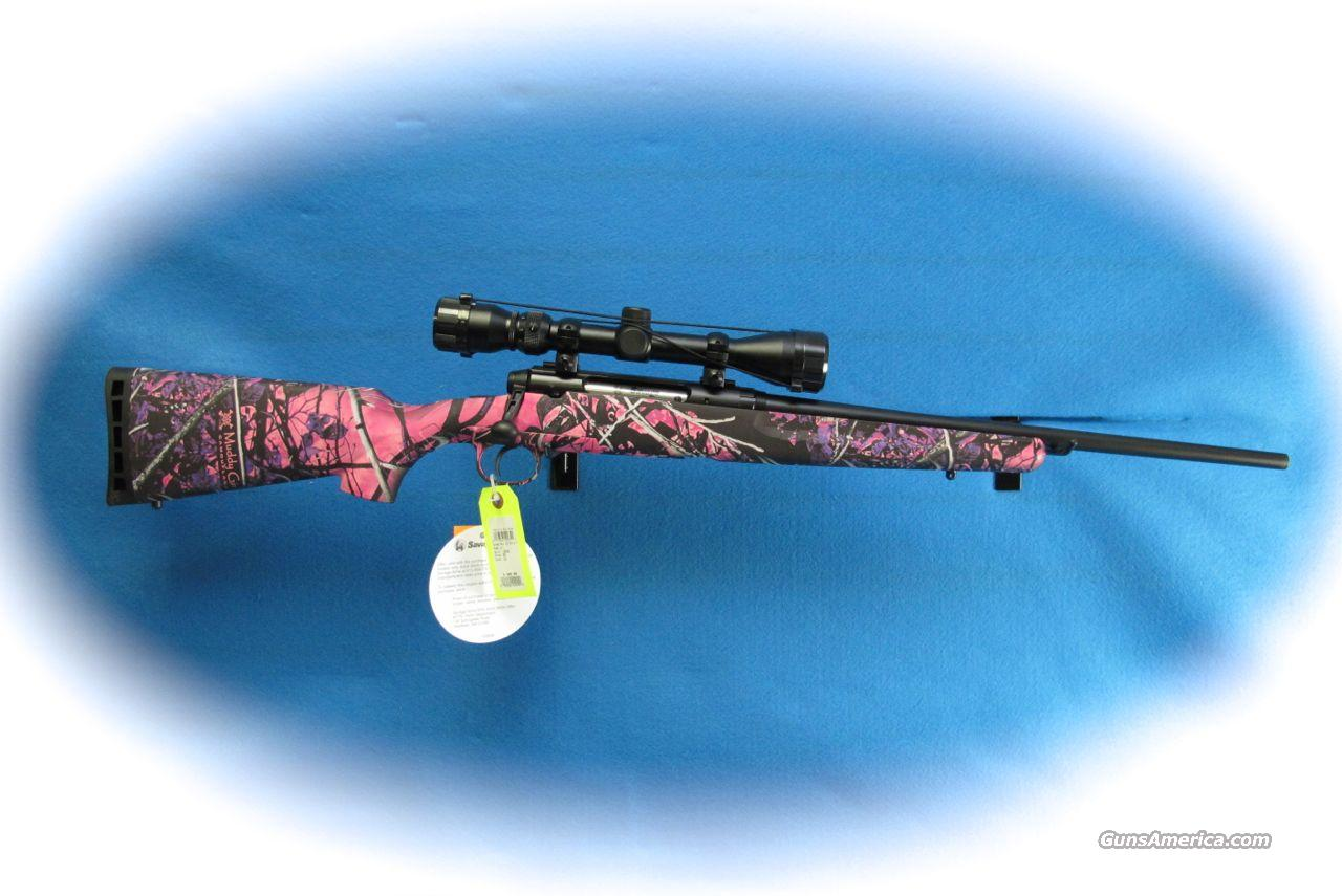 Savage Axis XP Youth Muddy Girl Bolt Action Rifle/Scope Package .223 Rem Cal **New**  Guns > Rifles > Savage Rifles > Accutrigger Models > Sporting