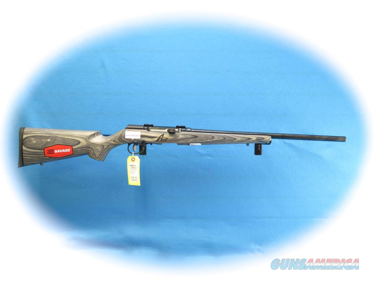 Savage A17 Sporter Laminate .17 HMR Semi Auto Rifle HB Item 47006 **New**  Guns > Rifles > Savage Rifles > Accutrigger Models > Sporting
