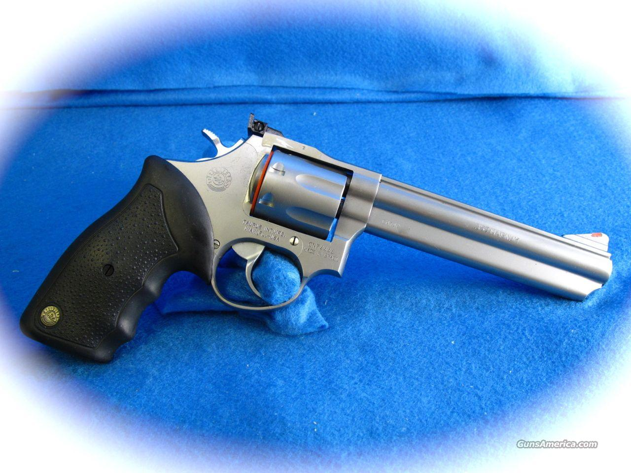 Taurus Model 66 Stainless Steel 6 inch .357 Mag Revolver  Guns > Pistols > Taurus Pistols/Revolvers > Revolvers