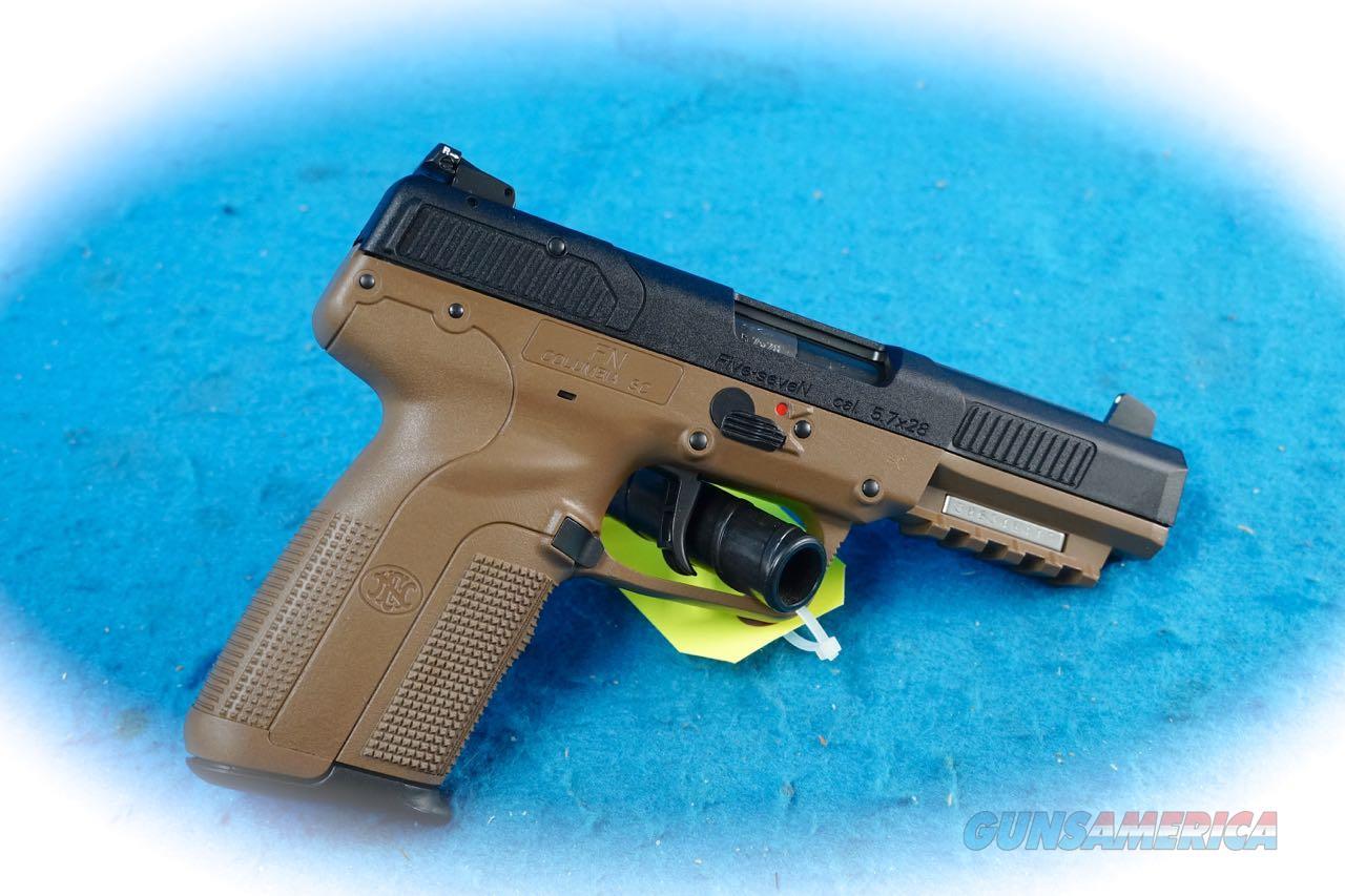 FN Five Seven Pistol FDE 5.7x28MM Cal **New**  Guns > Pistols > FNH - Fabrique Nationale (FN) Pistols > FiveSeven