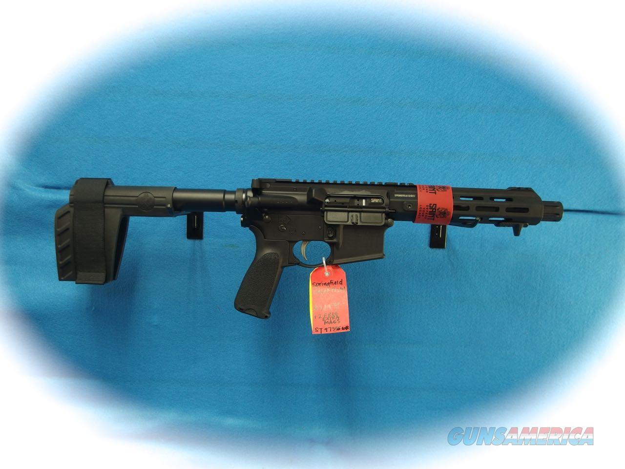 Springfield Armory Saint AR-15 Pistol 5.56mm Cal Model ST975556B **New**  Guns > Pistols > Springfield Armory Pistols > SAINT Pistol