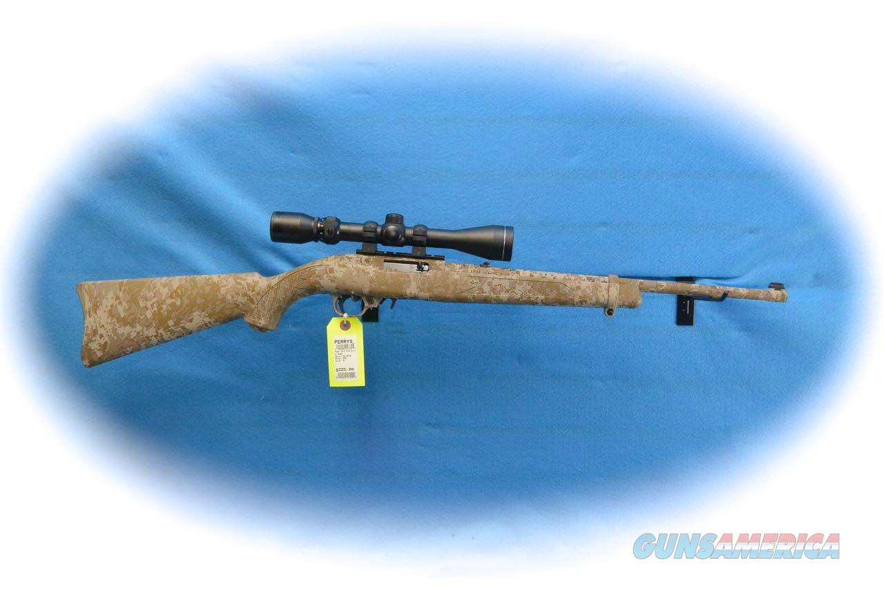 Ruger 10/22 Semi Auto .22LR Rifle  Camo W/ Scope **Used**  Guns > Rifles > Ruger Rifles > 10-22