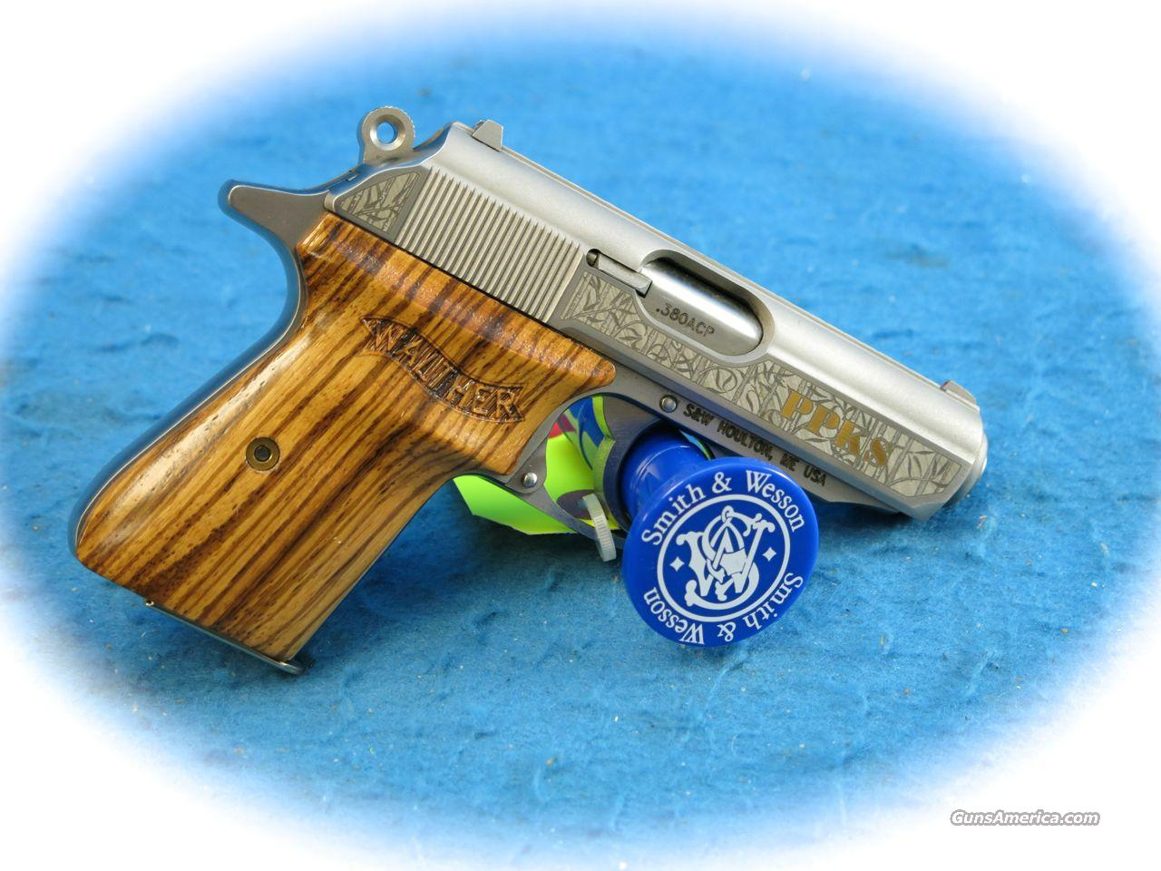 Smith & Wesson Walther PPK/S .380 ACP Factory Engraved **Used**  Guns > Pistols > Walther Pistols > Post WWII > PPK Series