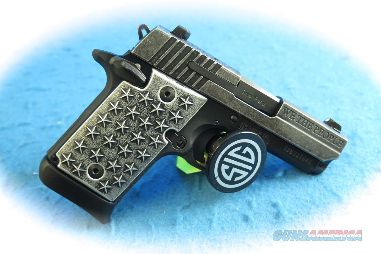 Sig Sauer P938 We The People 9mm Semi Auto Pistol Model 938-9-WTP **New**  Guns > Pistols > Sig - Sauer/Sigarms Pistols > P938