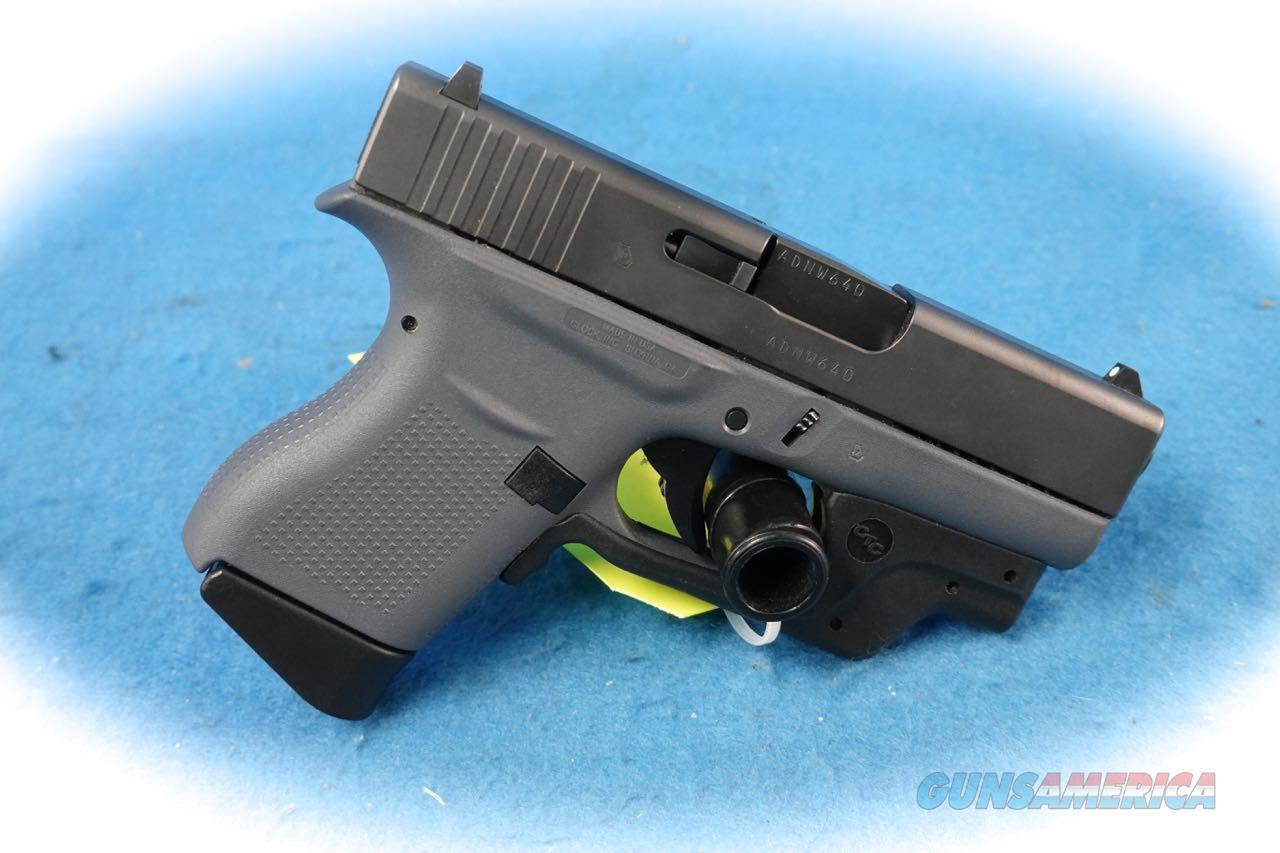 Glock Model 43 Grey Frame 9mm Pistol W/CTC Green Laser **Used**  Guns > Pistols > Glock Pistols > 43/43X