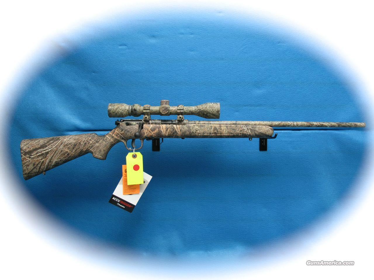 Savage 93XP .22 Mag Bolt Rifle/Scope Package Camo **New**  Guns > Rifles > Savage Rifles > Accutrigger Models > Sporting