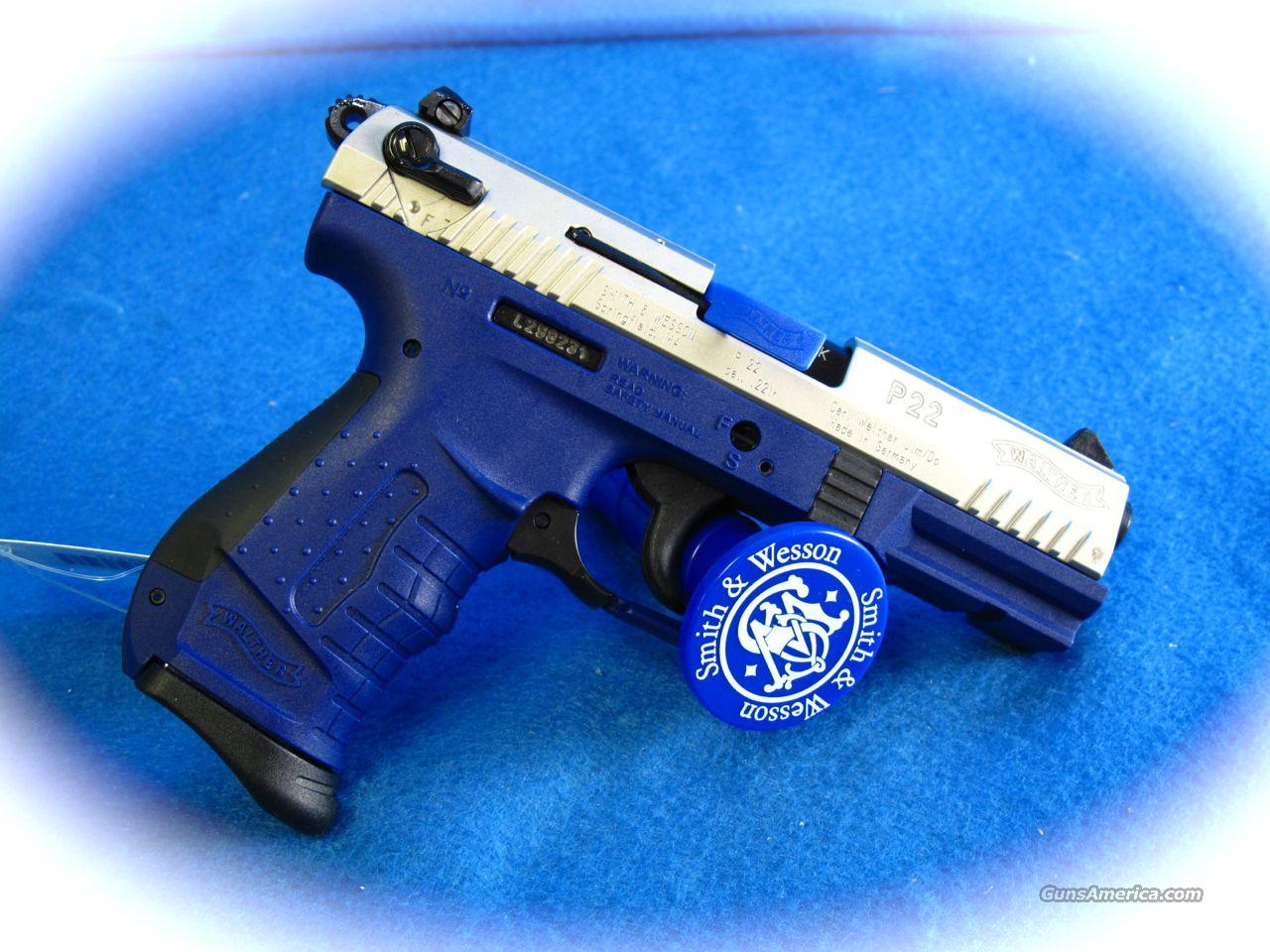 Walther P22 Pistol Blue Frame  Guns > Pistols > Walther Pistols > Post WWII > Target Pistols