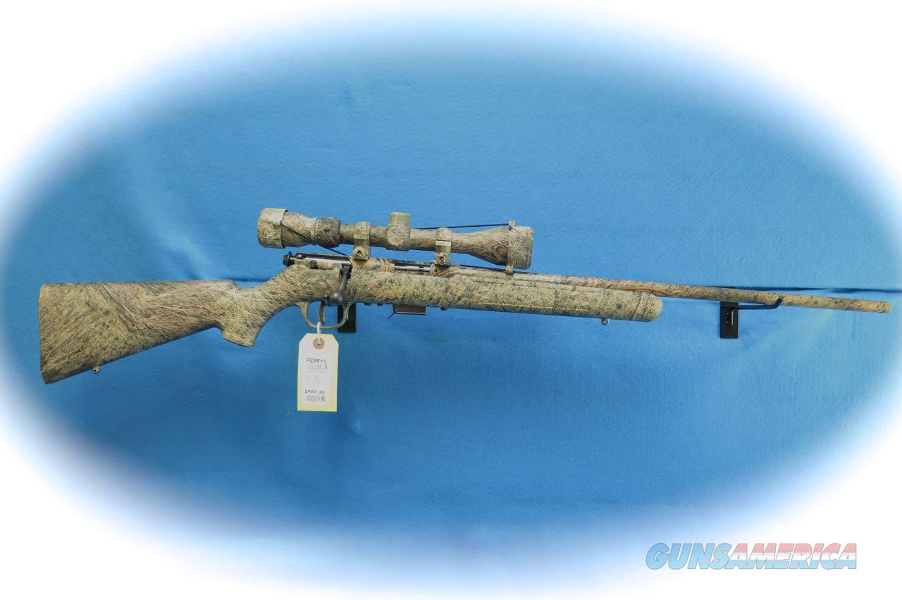 Savage Model 93R17 XP Camo Brush Rifle/Scope Pkg. .17 HMR Cal **Used**  Guns > Rifles > Savage Rifles > Accutrigger Models > Sporting