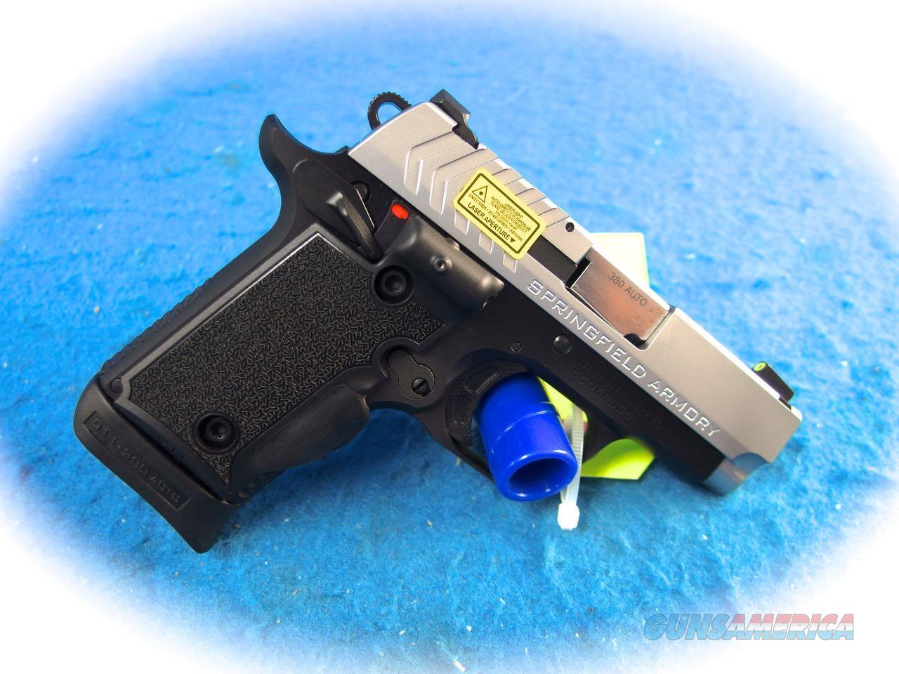 Springfield 911 .380 ACP Pistol w/ Green Laser Model PG9109SVG **New**  Guns > Pistols > Springfield Armory Pistols > 911