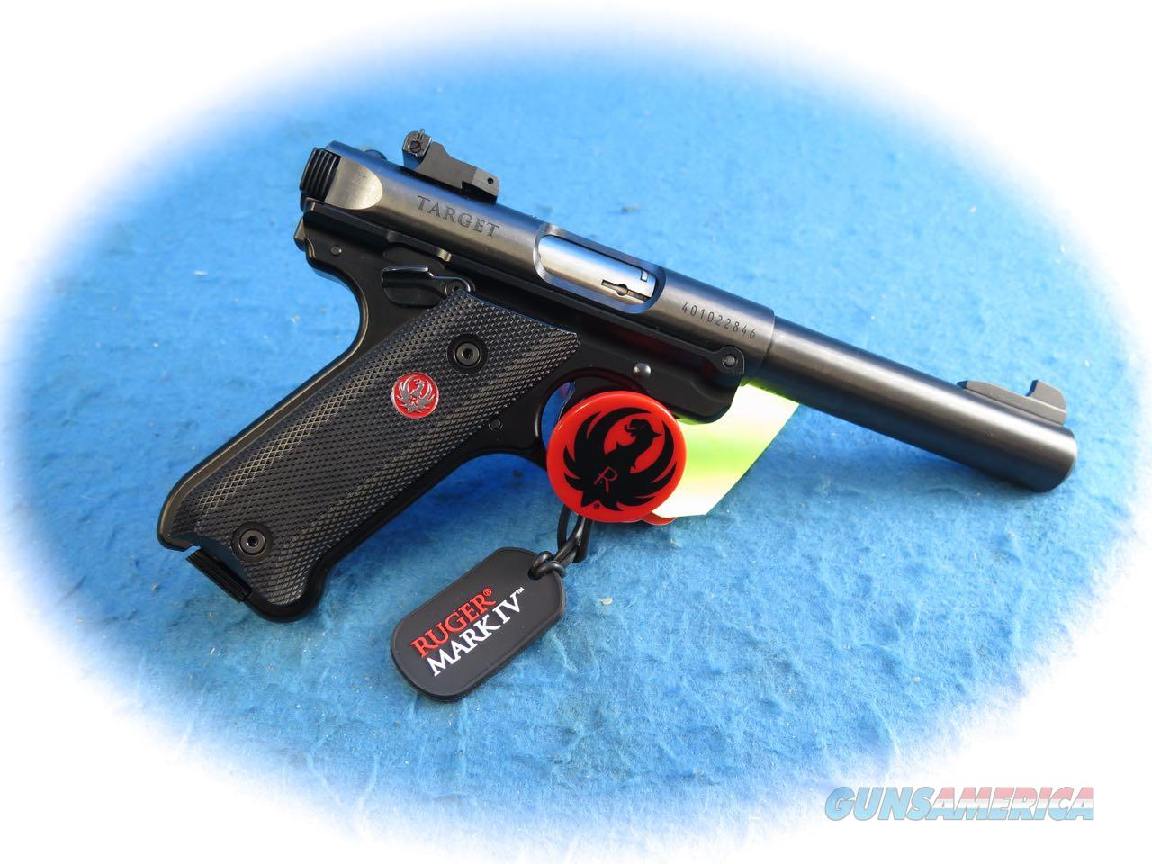 Ruger Mark IV Target Pistol .22 LR Cal Model 40101 **New**  Guns > Pistols > Ruger Semi-Auto Pistols > Mark I/II/III Family