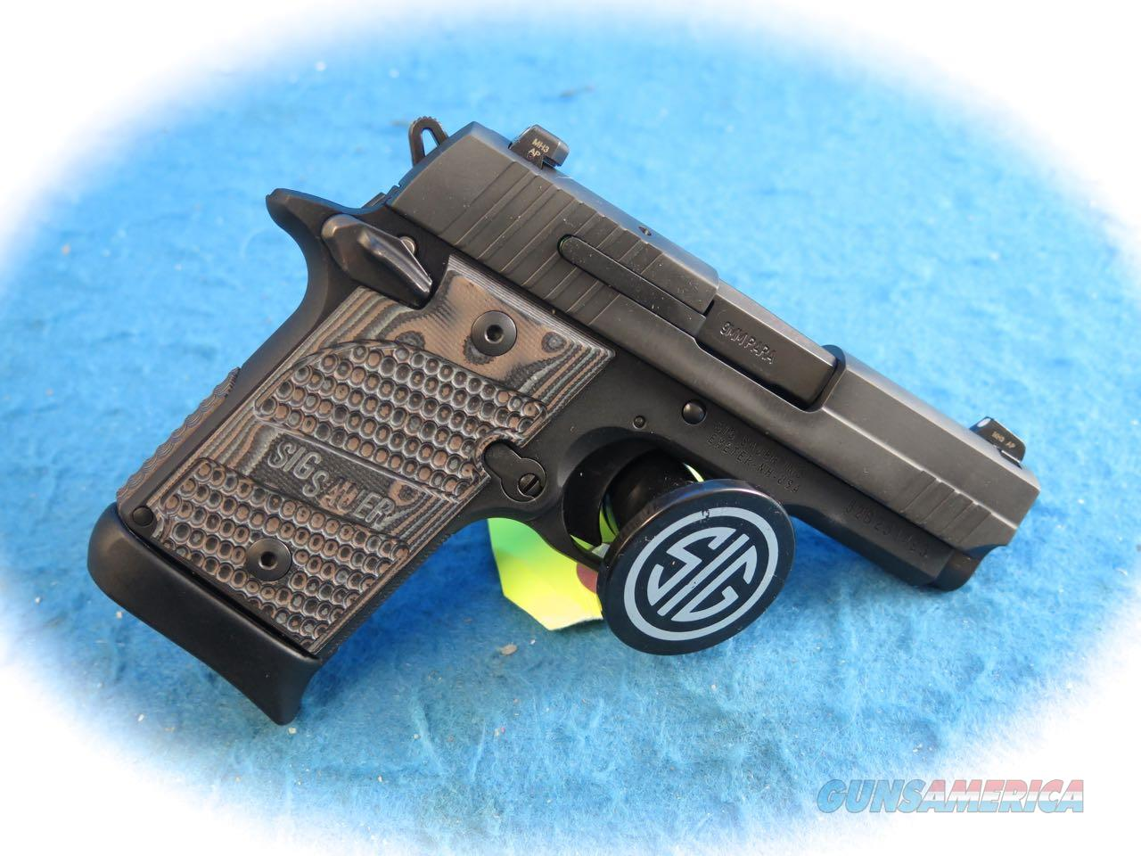 Sig Sauer P938 Extreme Micro-Compact 9mm Pistol Model 938-9-XTM-BLKGRY-AMBI **New**  Guns > Pistols > Sig - Sauer/Sigarms Pistols > P938