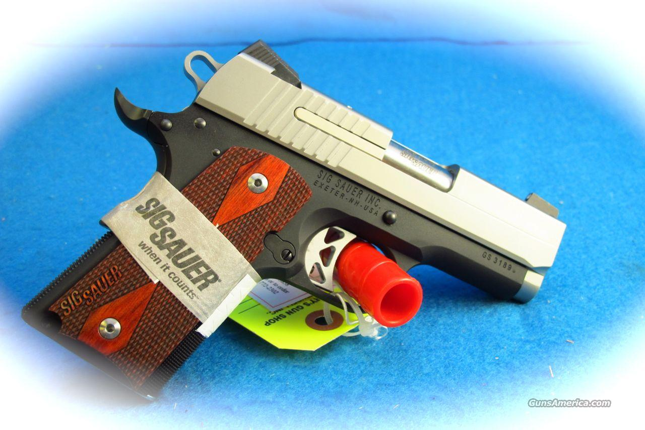 Sig Sauer 1911 Ultra Compact Two Tone .45ACP PIstol **New**  Guns > Pistols > Sig - Sauer/Sigarms Pistols > 1911