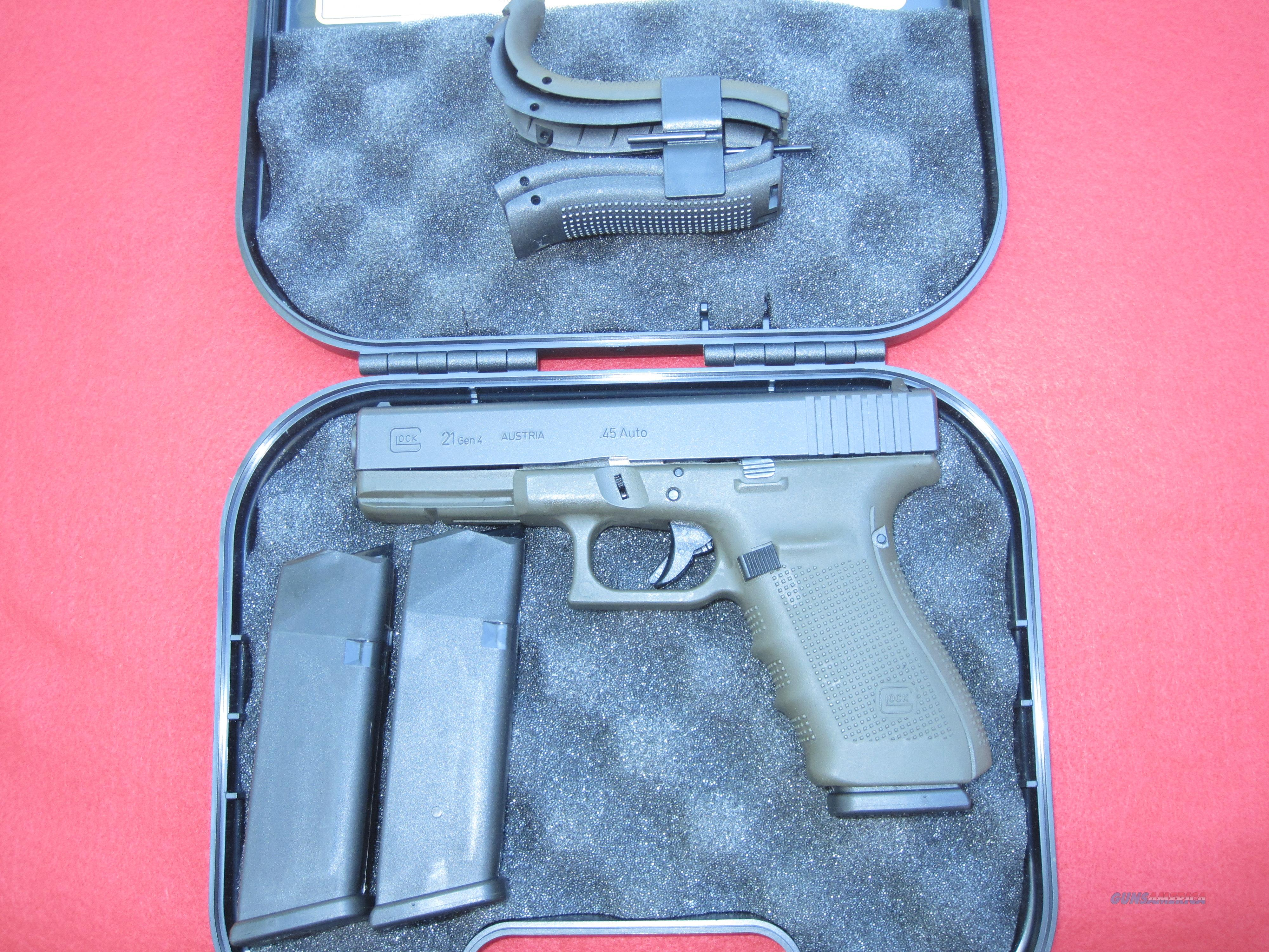 GLOCK 21, GEN 4, .45ACP CALIBER, TWO TONE DARK EARTH   Guns > Pistols > Glock Pistols > 20/21