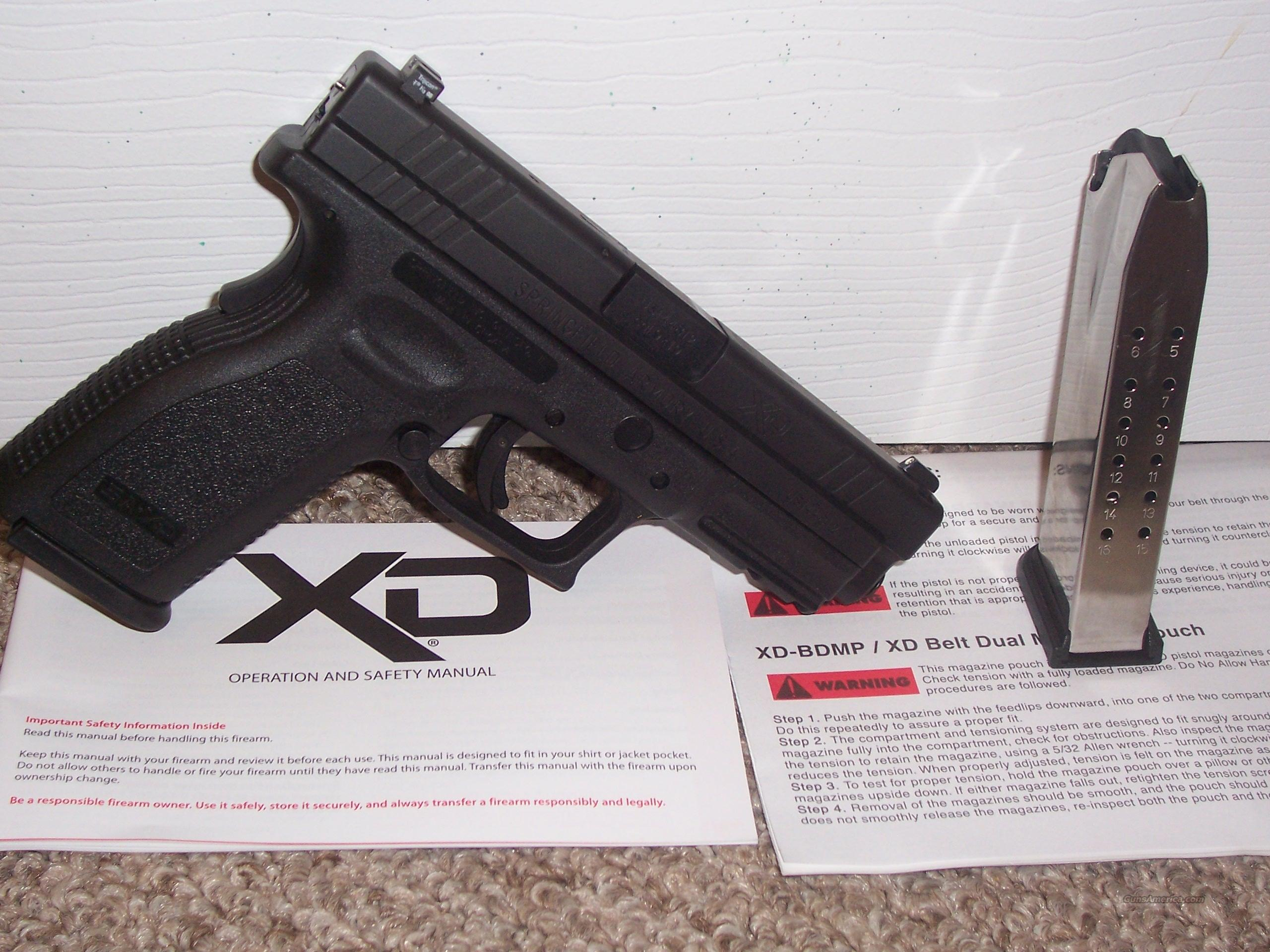 Springfield XD 9 mm Factory Nite Sites  Guns > Pistols > Springfield Armory Pistols > XDs