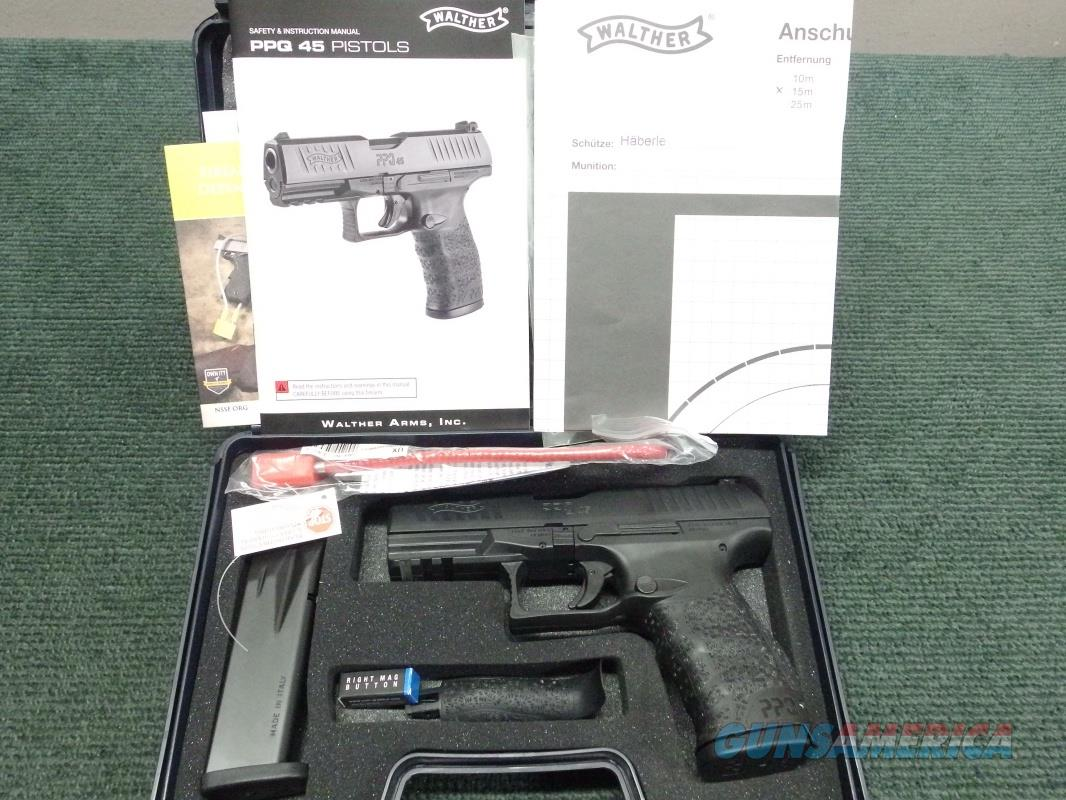 WALTHER PPQ 45 - .45ACP - AS NEW IN BOX WITH TWO 12-RND MAGS, PAPERS & FACTORY TEST TARGET  Guns > Pistols > Walther Pistols > Post WWII > P99/PPQ