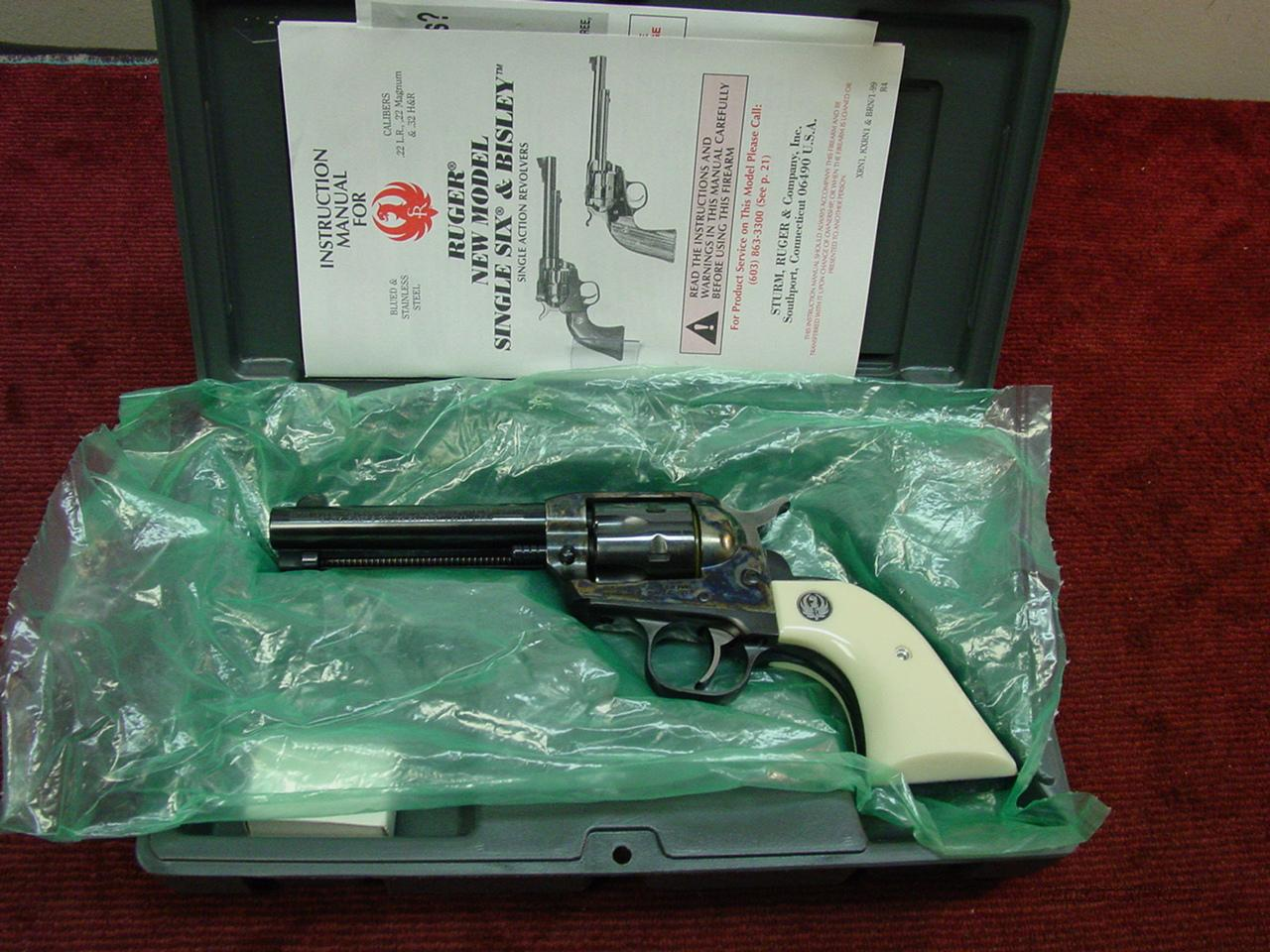 "RUGER SINGLE SIX 32 H&R MAG - 4 1/2"" CASE COLORED - NIB  Guns > Pistols > Ruger Single Action Revolvers > Single Six Type"