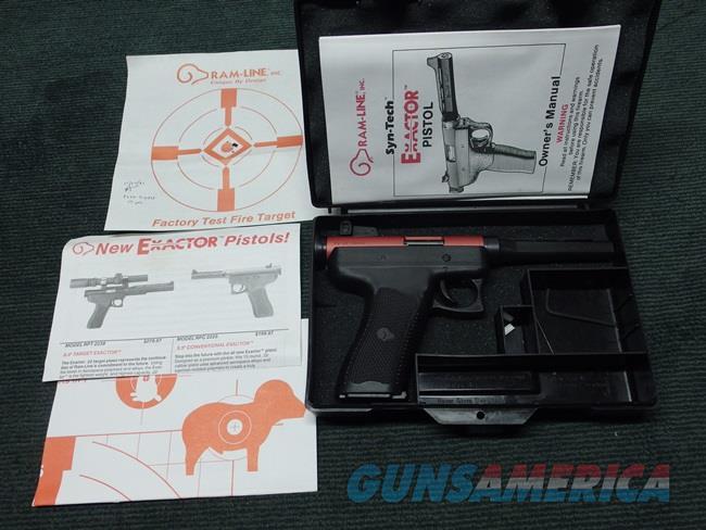 RAM-LINE EXACTOR .22LR - SYN TECH PISTOL - RED FRAME - AS NEW IN BOX  Guns > Pistols > R Misc Pistols