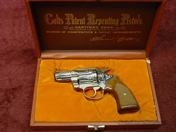 COLT DETECTIVE SPECIAL .38SPL. FACTORY ENGRAVED - NICKEL - NEW!  Guns > Pistols > Colt Double Action Revolvers- Modern