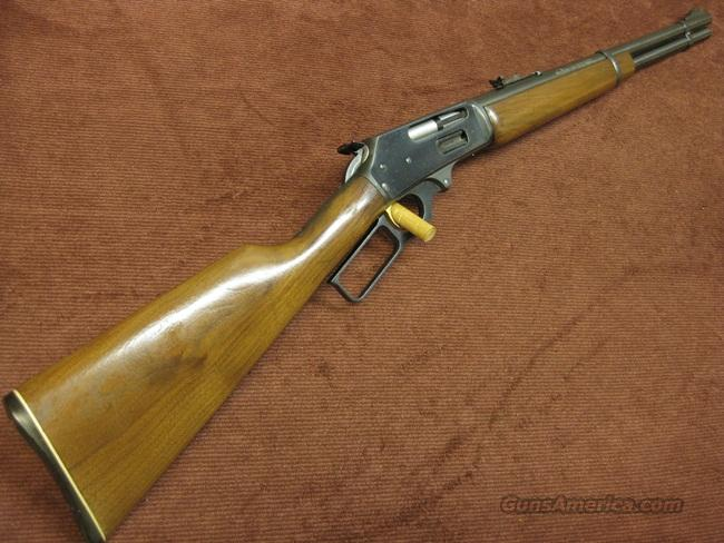MARLIN 336 TEXAN CARBINE 30-30 - STRAIGHT STOCK - 18 1/2-INCH - SQUARE LEVER - PRE CROSS-BOLT SAFETY - MADE IN 1981  Guns > Rifles > Marlin Rifles > Modern > Lever Action