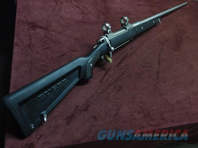 "RUGER M77 MARK II .300 WIN. MAG. - STAINLESS - ZYTEL ""BOAT PADDLE"" STOCK - WITH RINGS - EXCELLENT  Guns > Rifles > Ruger Rifles > Model 77"