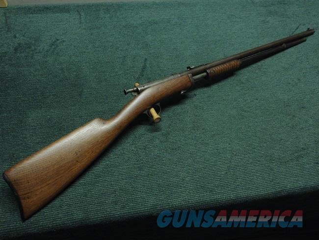 STEVENS GALLERY NO. 80 - PUMP ACTION RIFLE - 25-STEVENS CALIBER  Guns > Rifles > Stevens Rifles