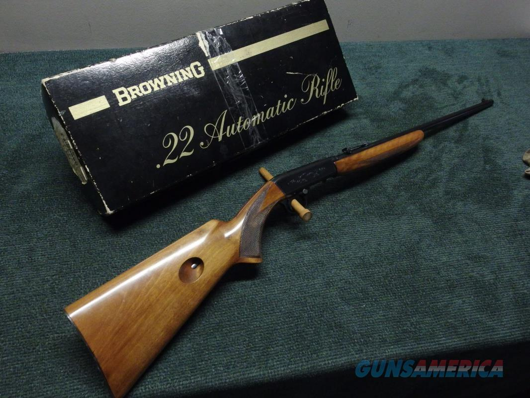 BROWNING BELGIAN SA-22 - 22 AUTO RIFLE - .22LR - MADE IN 1958 - EXCELLENT  Guns > Rifles > Browning Rifles > Semi Auto > Hunting