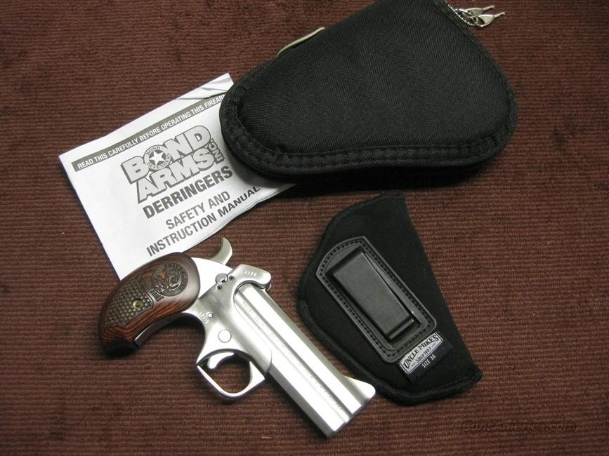 BOND ARMS DERRINGER - SNAKE SLAYER IV - .45 COLT / .410GA. - STAINLESS - MINT  Guns > Pistols > Bond Derringers