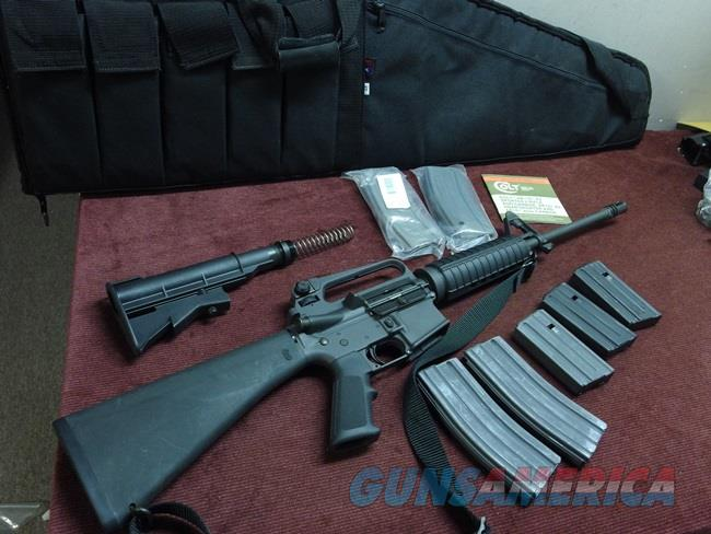 COLT PRE-BAN AR-15 A2 .223 - GOVERNMENT CARBINE - TWO STOCKS - 7 MAGS - EXCELLENT  Guns > Rifles > Colt Military/Tactical Rifles