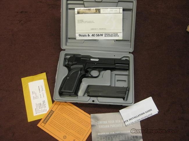 BROWNING HI POWER 9MM - 75TH ANNIVESARY MODEL - AS NEW IN BOX  Guns > Pistols > Browning Pistols > Hi Power