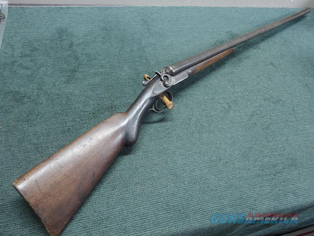 """ECLIPSE ARMS CO. - NO. 5212A - 12GA. ANTIQUE SXS - 30"""" - EXTERNAL HAMMERS - BELGIAN - NICE WALL HANGER ! -  Guns > Shotguns > Double Shotguns (Misc.)  > Belgian"""