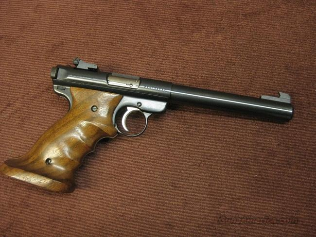 RUGER MARK II GOVERNMENT TARGET MODEL .22LR - 6 7/8-INCH - MINT !   Guns > Pistols > Ruger Semi-Auto Pistols > Mark I & II Family