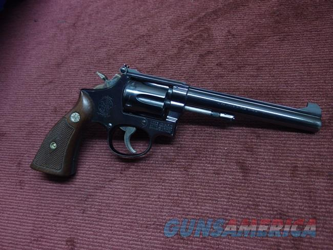 SMITH & WESSON 17-2 .22LR - 6-INCH - MADE IN 1962 - EXCELLENT  Guns > Pistols > Smith & Wesson Revolvers > Med. Frame ( K/L )
