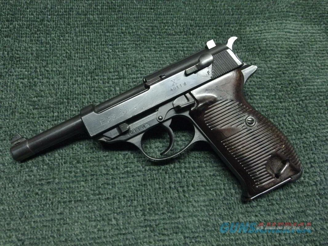 WALTHER P38 9MM - WWII - 1943 - AC43 STAMP - NAZI PROOFS - NO IMPORT MARKS   Guns > Pistols > Walther Pistols > Pre-1945 > P-38