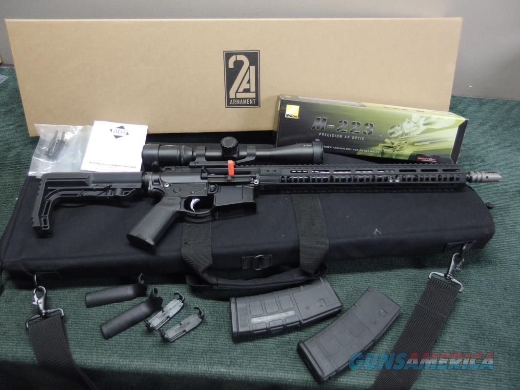2A ARMAMENT BLR-16 - BALIOS-LITE  - .223 / 5.56MM - WITH NIKON M-223 3-12X42MM SCOPE & ACCESSORIES - AS NEW IN BOX WITH SOFT CASE  Guns > Rifles > AR-15 Rifles - Small Manufacturers > Complete Rifle