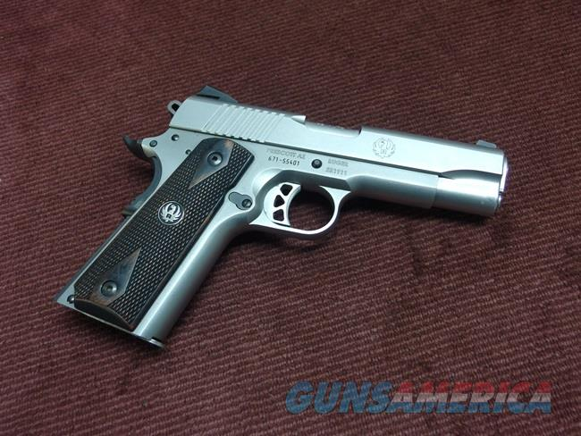 RUGER SR1911 COMMANDER STAINLESS 45ACP - EXCELLENT  Guns > Pistols > Ruger Semi-Auto Pistols > 1911