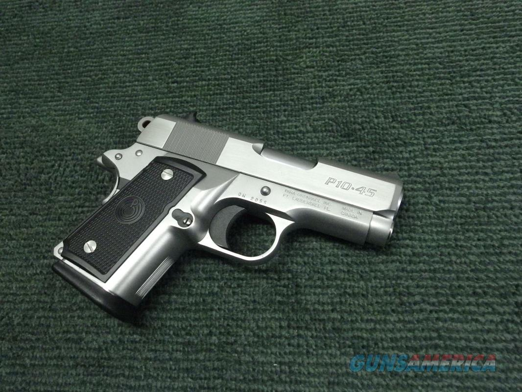 PARA-ORDNANCE P10 .45ACP - STAINLESS - SUPER COMPACT - 10-ROUND - MINT !  Guns > Pistols > Para Ordnance Pistols