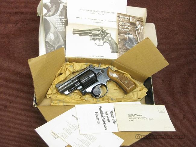 SMITH & WESSON 19-5 .357 MAGNUM - 2 1/2-INCH - ROUND BUTT - NEAR NEW IN BOX WITH PAPERS   Guns > Pistols > Smith & Wesson Revolvers > Full Frame Revolver