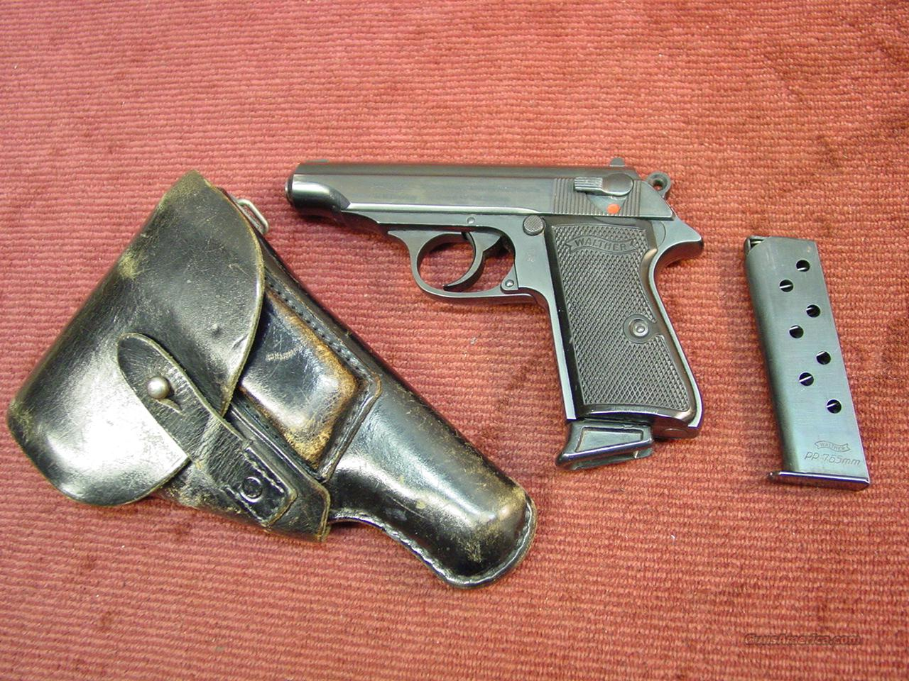 WALTHER PP 7.65MM - WEST GERMANY W/ HOLSTER & TWO CLIPS - EXCELLENT !  Guns > Pistols > Walther Pistols > Post WWII > PP Series