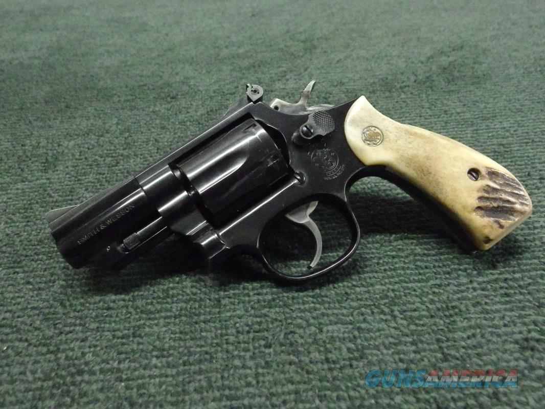 SMITH & WESSON MODEL 19-5 .357 MAGNUM - 2 1/2-INCH - ROUND BUTT - STAG GRIPS  Guns > Pistols > Smith & Wesson Revolvers > Med. Frame ( K/L )