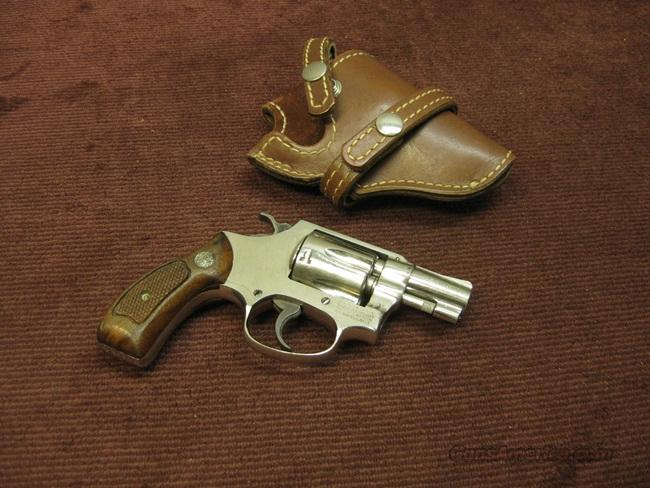 SMITH & WESSON 30-1 .32 S&W LONG - NICKEL - ROUND BUTT - W/HOLSTER  Guns > Pistols > Smith & Wesson Revolvers > Pocket Pistols