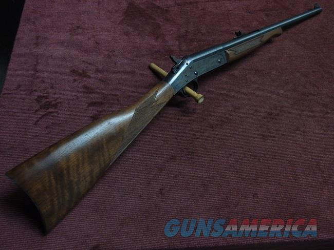 H&R HANDI-RIFLE - CLASSIC CARBINE - .45 COLT - 20-INCH - CASE COLORED - WALNUT - PRETTY WOOD   Guns > Rifles > Harrington & Richardson Rifles