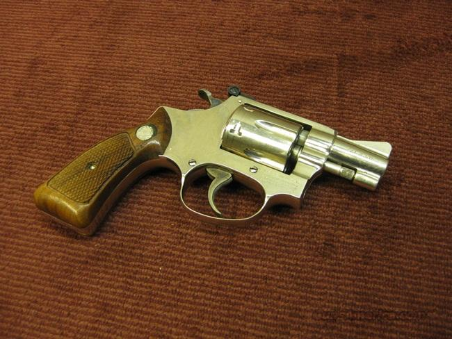 SMITH & WESSON 34-1 .22LR NICKEL 2-INCH - EXCELLENT  Guns > Pistols > Smith & Wesson Revolvers > Pocket Pistols