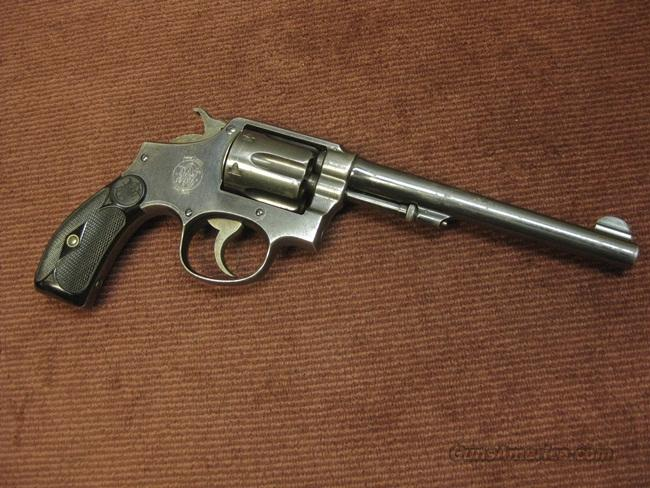 S&W 38 H.E. M&P 1905  .38SPL. - 3RD CHANGE - 5-SCREW - 6 1/2-INCH  Guns > Pistols > Smith & Wesson Revolvers > Pre-1945
