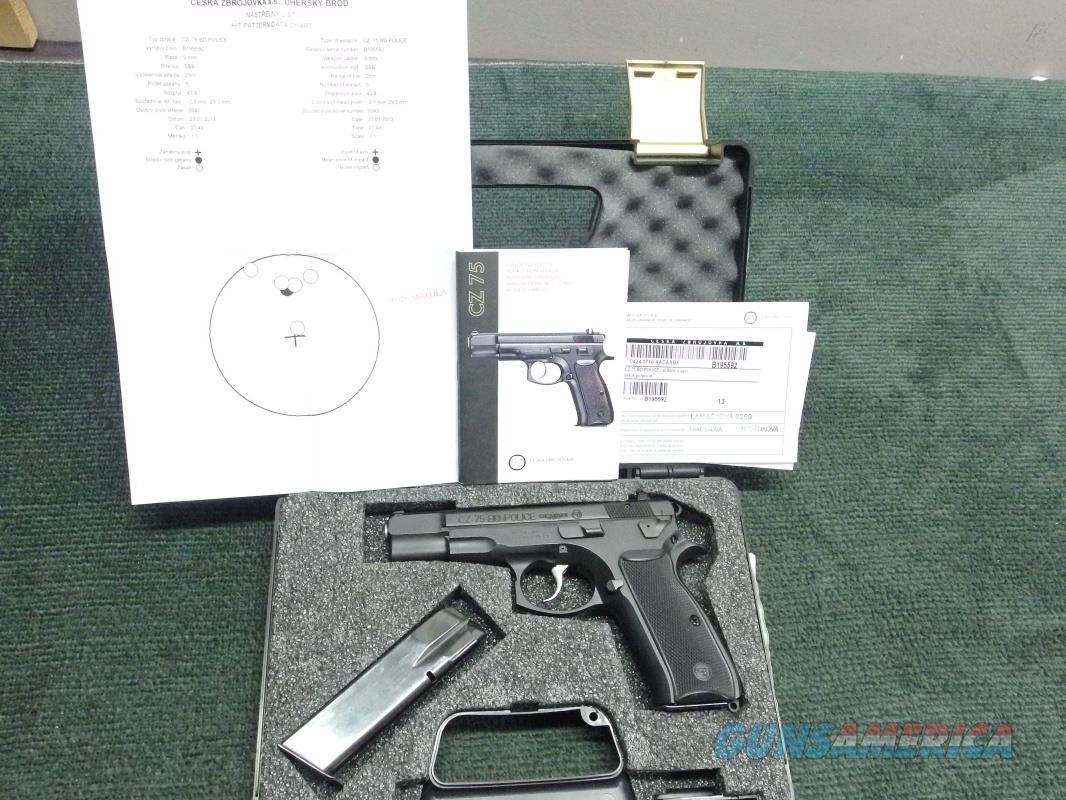 CZ 75BD POLICE 9MM - WITH TWO 16-ROUND MAGS - AS NEW IN BOX - APPEARS TO BE UNFIRED  Guns > Pistols > CZ Pistols